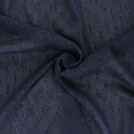 Tissu Mousseline lurex plumetis - écru x 50cm
