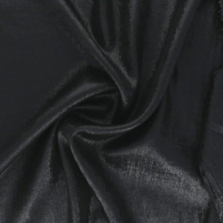 Metallic Polyester Fabric - silver Vicky x 10cm