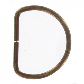 Not-joined D-ring - Antique brass