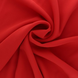 Tissu crêpe fluide Adela - rouge x 50cm