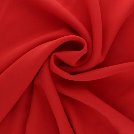 Crêpe Fabric - red Adela x 50cm