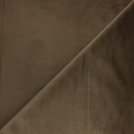 Tissu velours ras Bristol - café x10cm
