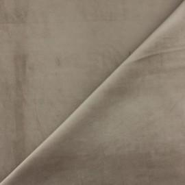 Short velvet fabric - Taupe Bristol x10cm