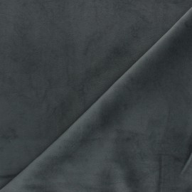 Short velvet fabric - Anthracite Bristol x10cm