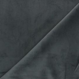 Tissu velours ras Bristol - anthracite x10cm