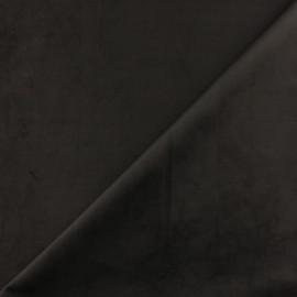 Tissu velours ras Bristol - noir x10cm