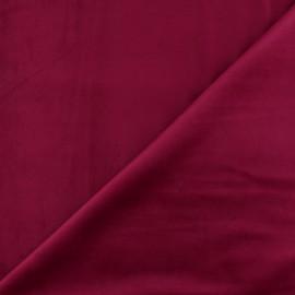 Tissu velours ras Bristol - grenat x10cm