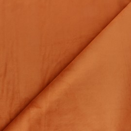 Tissu velours ras Bristol - orange x10cm