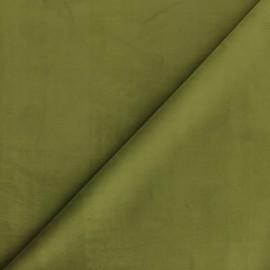 Tissu velours ras Bristol - olive x10cm