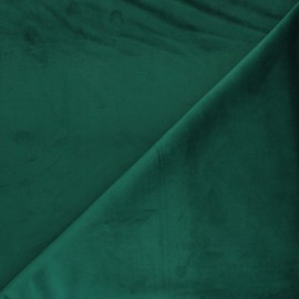 Short velvet fabric - Emerald Bristol x10cm