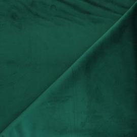 Tissu velours ras Bristol - Emeraude x10cm