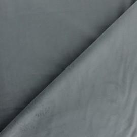 Tissu velours ras Bristol - titane x10cm