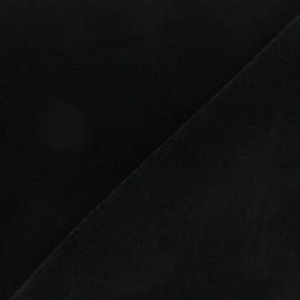 Short velvet fabric - Black Bonnie x10cm