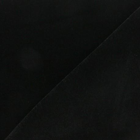 Tissu velours ras Bonnie - noir x10cm