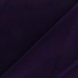 Tissu velours ras Bonnie - bleu x10cm