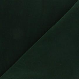 Tissu velours ras Bonnie - vert foncé x10cm