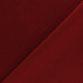 Short velvet fabric - Red Bonnie x10cm