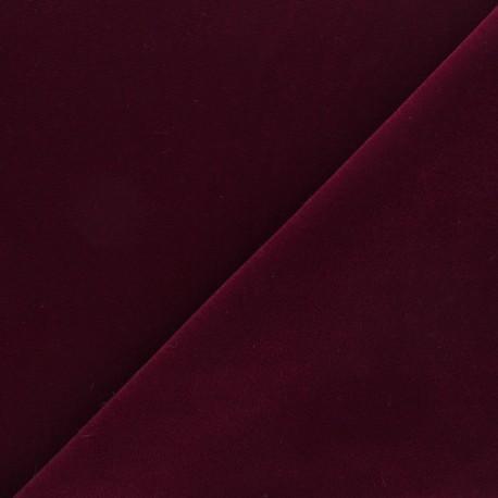 Short velvet fabric - Dark red Bonnie x10cm