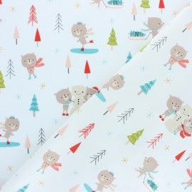 Cotton Dashwood fabric - Christmas Party - Teddy bear x 10cm