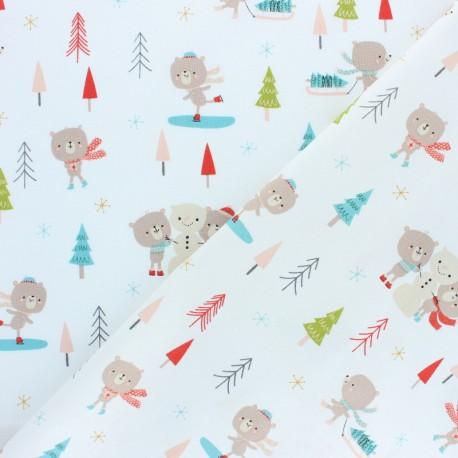 Tissu coton Dashwood Christmas Party - Ourson x 10cm