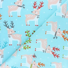 Cotton Dashwood fabric - Christmas Party - Mouse x 10cm