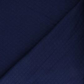 Tissu jersey matelassé losanges 10/20 - bleu marine x 10cm