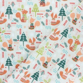 Cotton Dashwood fabric - Christmas Party - Fox x 10cm