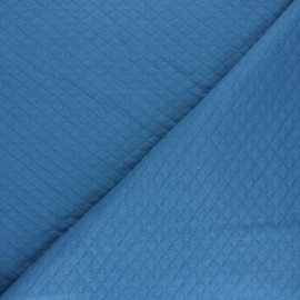 Quilted jersey fabric Diamonds 10/20 - swell blue x 10cm