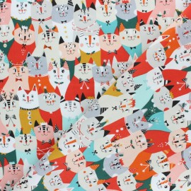 Tissu coton Dashwood Christmas Party - Chat x 10cm