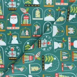 Cotton Dashwood fabric - Christmas Party - Snow globe x 10cm