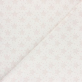 Cretonne Cotton fabric - Pink Starry x 10cm
