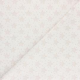 Tissu coton cretonne Starry - rose x 10cm