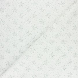 Tissu coton cretonne Starry - menthe x 10cm