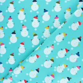Cotton Dashwood Studio fabric - Snowman x 10cm