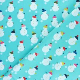 Tissu coton Dashwood Studio - Bonhomme de neige x 10cm
