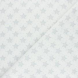 Tissu coton cretonne Starry - bleu x 10cm