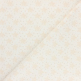Cretonne Cotton fabric - Orange Starry x 10cm