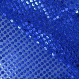 Sequin 6mm Fabric - royal blue x 10cm