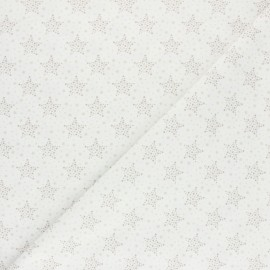 Cretonne Cotton fabric - Taupe Starry x 10cm