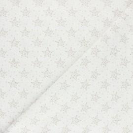 Tissu coton cretonne Starry - taupe x 10cm