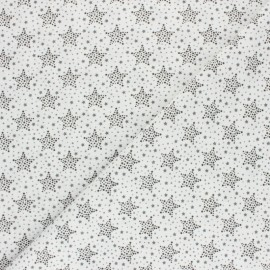 Cretonne Cotton fabric - Black Starry x 10cm