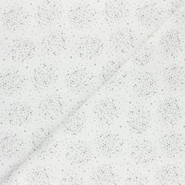 Tissu coton cretonne Nébuly - gris x 10cm