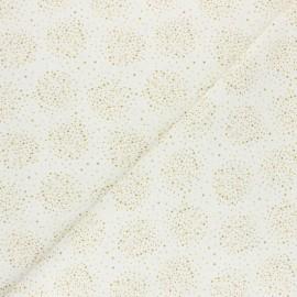 Cretonne Cotton fabric - Mustard Nébuly x 10cm