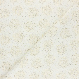 Tissu coton cretonne Nébuly - moutarde x 10cm
