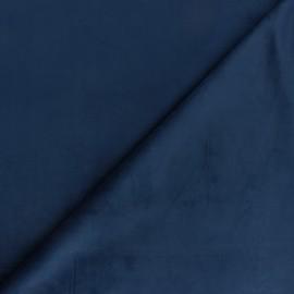 Tissu velours ras Bristol - Bleu marine x10cm