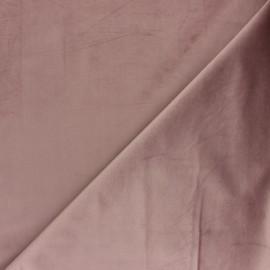 Tissu velours ras Bristol - Bois de rose x10cm