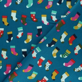 Cotton Dashwood Studio fabric - Socks x 10cm