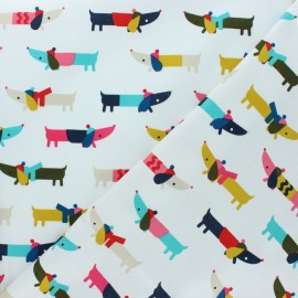 Cotton Dashwood Studio fabric - Christmas Dog x 10cm