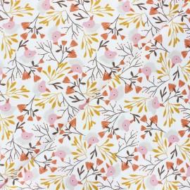 Tissu coton cretonne Myriel - framboise x 10cm