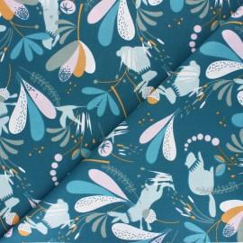 Cretonne cotton Fabric - navy blue Lorena x 10cm
